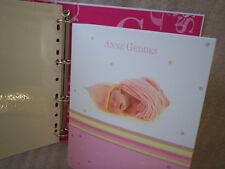 Album photos bébé autocollant adhésif Geddes classeur Anne rose rechargeable