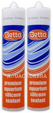 Betta Acuario Sellador De Silicona Claro Negro Premium Cristal Metal Sellador Pecera