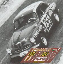 Calcas Alfa Romeo 1900 TI Panamericana 1954 255 1:32 1:43 1:24 1:18 slot decals