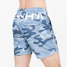 Crosshatch Flofast Swim Shorts Blue Camo Beach Shorts