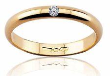Diana fede fedina matrimonio oro Giallo 18 kt. grammi 3 diamante 0.03 matrimonio