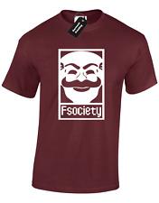 Società F Da Uomo T Shirt Mr ROBOT MALVAGIO Corp Cyber Hacker PROGRAMMATORE PC CODICE S-XXXL