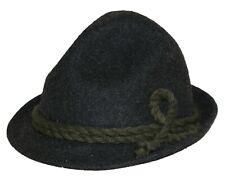 Trachtenhut dunkelgrau Loden Jäger-Wander-Hut grau Fischer Trachten Lodenhut
