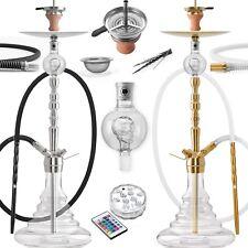 DILAW® ONYX Shisha Edelstahl Set Hookah Komplettset Wasserpfeife Molassefänger