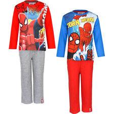 Pyjama Set Schlafanzug Jungen Marvel Spiderman Rot Grau Blau 98 104 116 128 #16