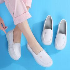 Womens Slip Resistant Mesh Breathable White Nurse Shoes Slip on Loafers Gomminos