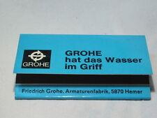 """(ZH-131) - Streichhölzer """"Friedrich Grohe, Hemer"""""""
