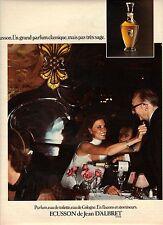 PUBLICITE  1970  JEAN D'ALBRET parfumflacon et atomiseur Ecusson
