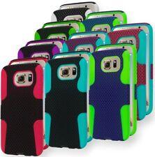 For Samsung Galaxy S6 Hybrid Silicone Cover Hard Mesh Design Case