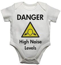 Gilets bébé bodysuits drôle design danger haut niveau de bruit pour les garçons et fille