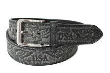 Eagle Aigle style western cowboy biker ceinture cuir belt 10074