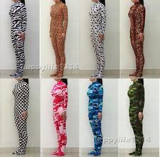 Lycra Spandex Zentai costume suit Camo Patterns Animals Unitard No Hood & Hands