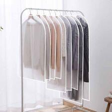 5/10 x Zip Up Garment Suit Bags Plastic Cloths Dress Coat Cover Storage Travel