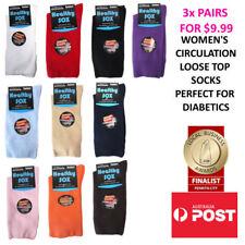 Women's Diabetic Loose Wide Top Medical Circulation Socks SEAMLESS TOE 3x PAIRS
