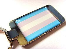 TRANSGENDER FLAG LGBT MOVEMENT GAY PRIDE FLAG KEYFOB KEYRING BOTTLE OPENER GIFT
