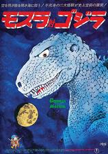 Godzilla Vs. The Thing Mosura tai Gojira (1964) Horror cult movie poster print
