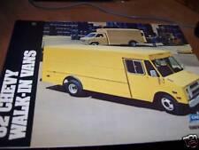 1982 Chevy Walk-in Vans Brochure