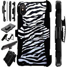Lux-Guard For iPhone 6/7/8 PLUS/X/XR/XS Max Phone Case Cover ZEBRA SKIN PRINT