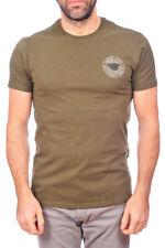 T-shirt Maglietta Armani Jeans AJ T-Shirt Sweatshirt -30% Uomo Verde B6H04LP-P2