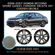 For 2016-2017 Honda Accord Sport Wheel Chrome Delete Overlay Kit - Glossy Matte