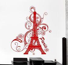 Wall Vinyl Decal Paris Eiffel Tower France Amazing Vacation Bedroom Decor z3830