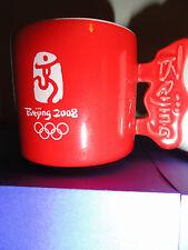Olympic mini mugs/tea cups Beijing 2008 stackable stoneware set