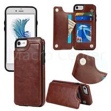 5ec6c05dd82 Para iPhone 6 7 8 Plus X Cuero Delgada Cartera Ranura para Tarjetas de  Crédito Cubierta Estuche