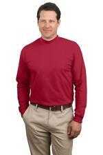Port & Company Shirt Long Sleeve Mock Turtleneck PC61M New