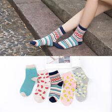 5/10 Pairs Womens Cotton Casual Sports Warm Soft Fruit Banana Socks Lot 5-9