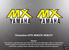 YAMAHA 1979 MX100 MX175 FUEL GAS TANK DECALS LIKE NOS