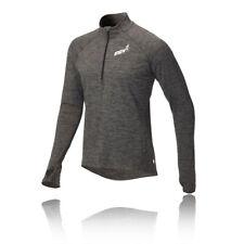 Inov 8 atc homme gris à manches longues demi-zip running training top de sport