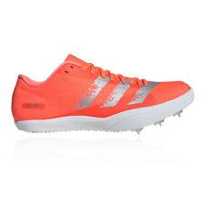 adidas Mens adizero Long Jump Spikes Orange Sports Running Breathable