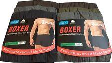 Mens Plain Boxer Shorts 6 Pairs Underwear Classic Rich Cotton Boxer S M L XL 2XL