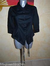 chemise noire cintrée MARITHÉ FRANCOIS GIRBAUD T S NEUVE valeur 290€