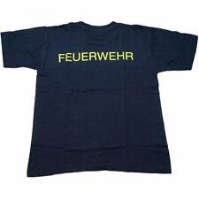 Kinder T-Shirt FEUERWEHR, Größen 140 - 164, neongelber Rückenaufdruck