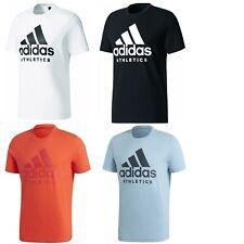 adidas Herren Männer Baumwoll Tee T-Shirt Hemd weiß schwarz rot blau S-XXXL