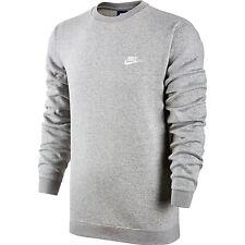 Nike Club Fleece Crew Neck Men's T-Shirt Grey Heather/White 804340-063