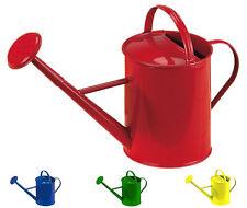 Gießkanne aus Metall 1 Liter, rot, blau grün oder gelb lackiert, Glückskäfer nic