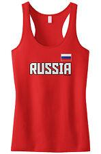 Threadrock Women's Russia National Team Racerback Tank Top Russian Flag Rossiya