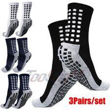 3Pairs Men's Anti Slip Sport Cotton Socks Soccer Fashion Basketball Football M
