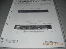 KENWOOD KT-89/2020/2020L Quartz Synthesizer AM-FM Stereo Tuner Service Manual