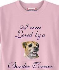 Dog T Shirt - I am Loved by a Border Terrier -  Adopt Animal Friend Men Women #7