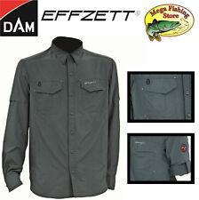 DAM EFFZETT Outdoor & Freizeit Airdry UV Protection Hemd - UV Schutz Angelhemd