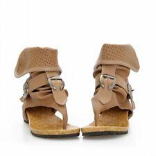 New Womens Cute School Ankle Boots Gladiator Roman Flip-Flop Flat Buckle Sandals
