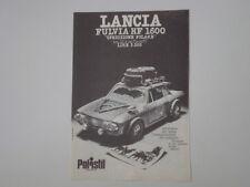 advertising Pubblicità 1974 LANCIA FULVIA HF 1600 SPEDIZIONE POLARE