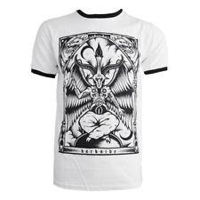 Darkside - BAPHOMET - Mens Black Ringer T-Shirt - White