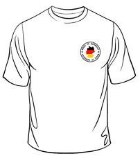 Made in Germany camisa S/M/L/XL/XXL pecho logotipo blanco/negro/Burdeos