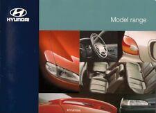 Hyundai Sonata Lantra SCoupe Accent 1995-96 UK Market Sales Brochure