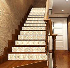 3D Elegant Floral 2 Stair Risers Decoration Photo Mural Vinyl Decal Wallpaper AU