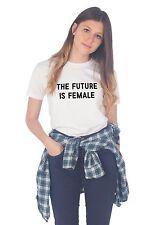 The Future Is Female T-shirt Top Tumblr Slogan Fashion Feminist Activist